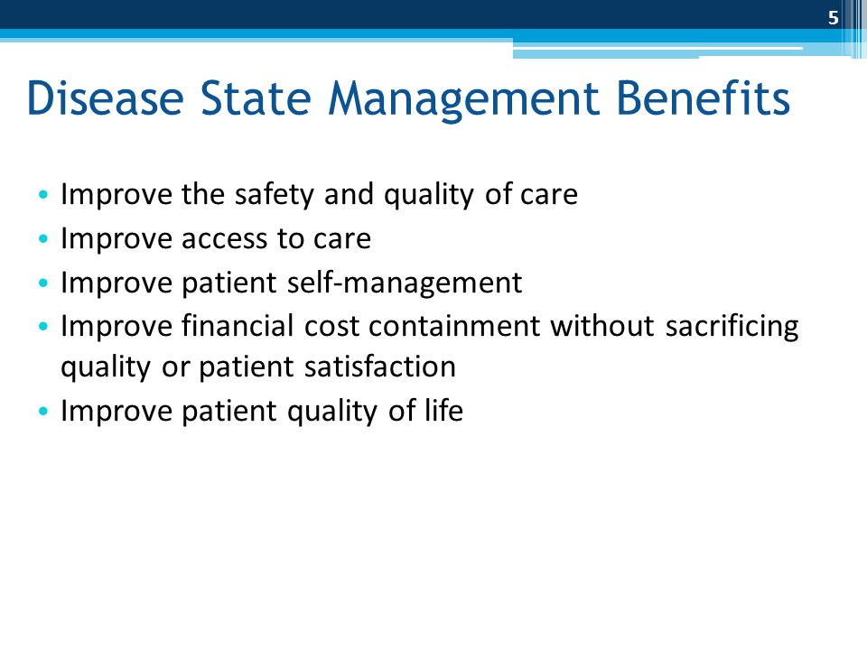 Disease State Management Benefits
