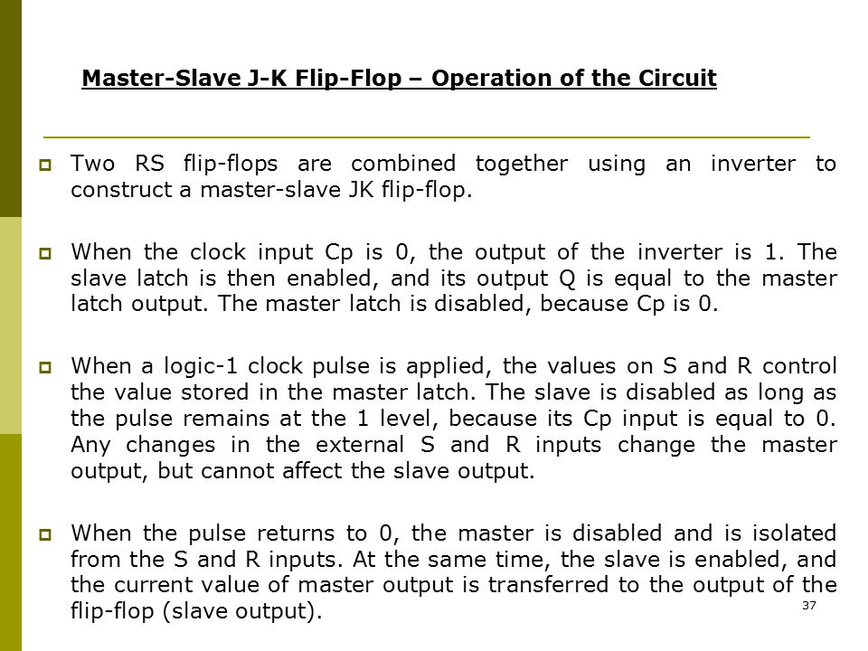 Master-Slave J-K Flip-Flop – Operation of the Circuit