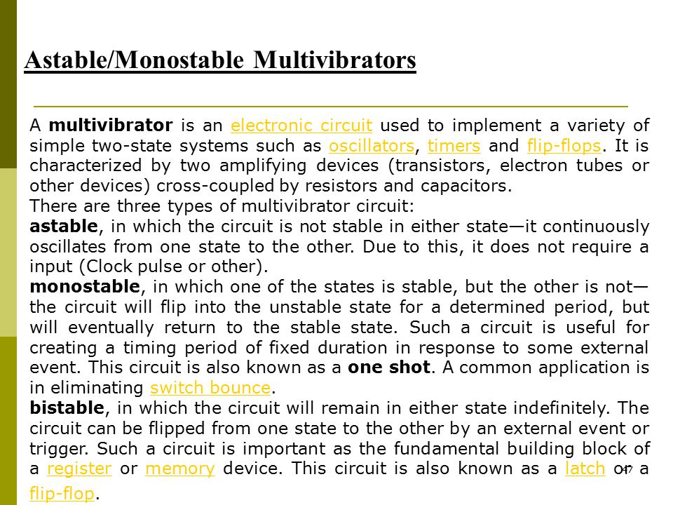 Astable/Monostable Multivibrators