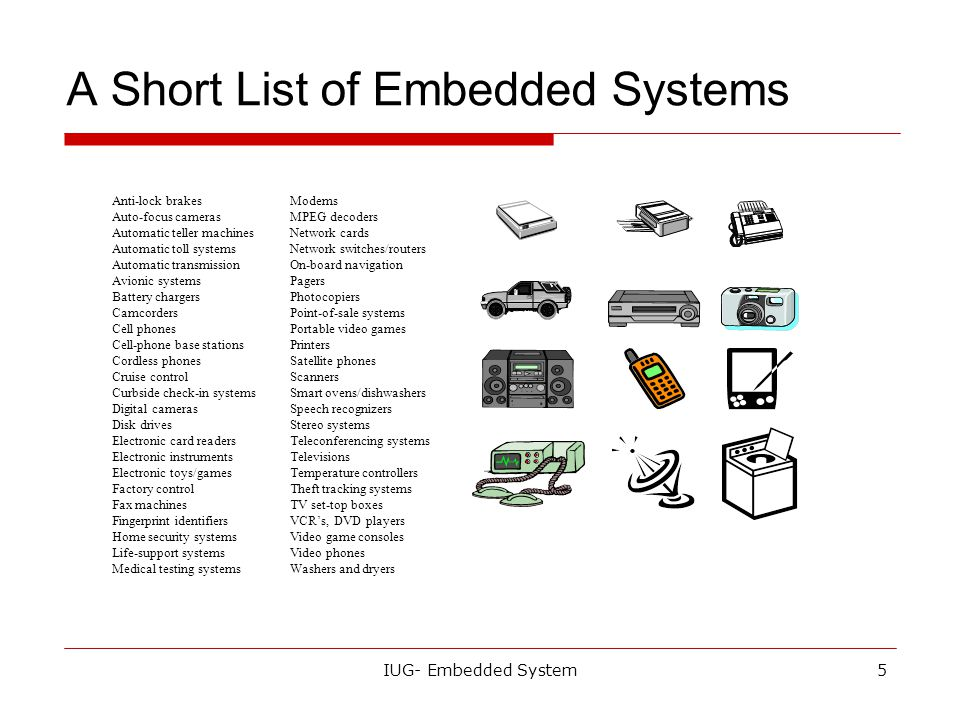 Today's Lecture What is the embedded system? - ppt video
