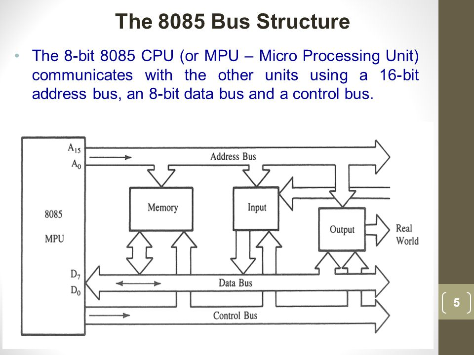 The 8085 Bus Structure