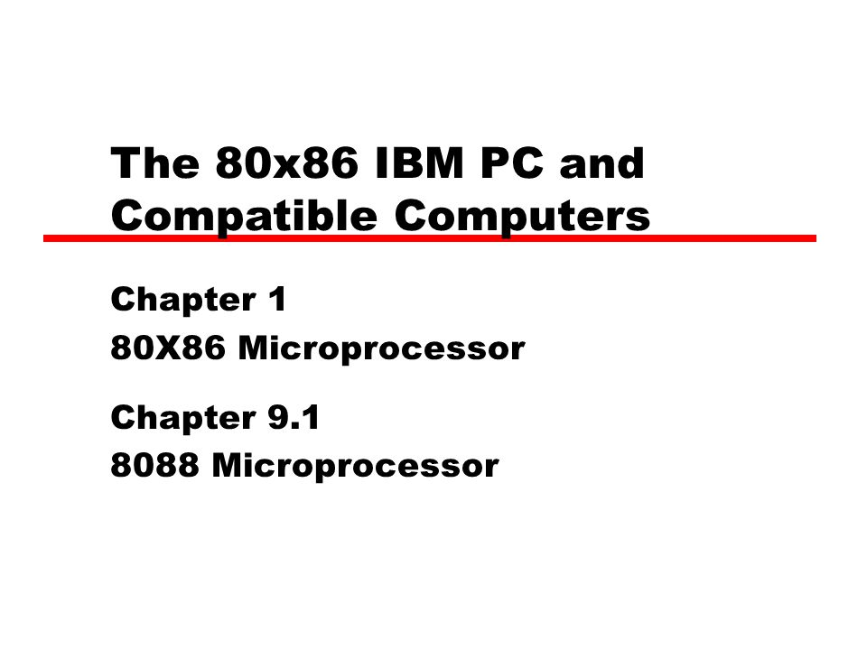 The 80x86 Ibm Pc And Compatible Computers Pdf
