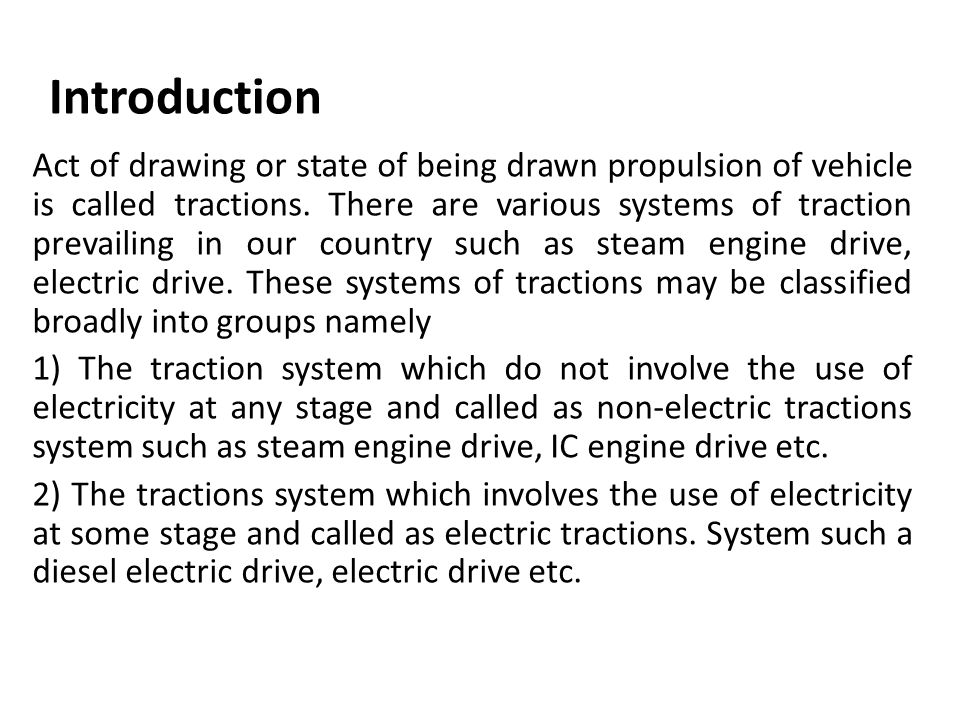 ELECTRIC TRACTION SYSTEM - ppt download