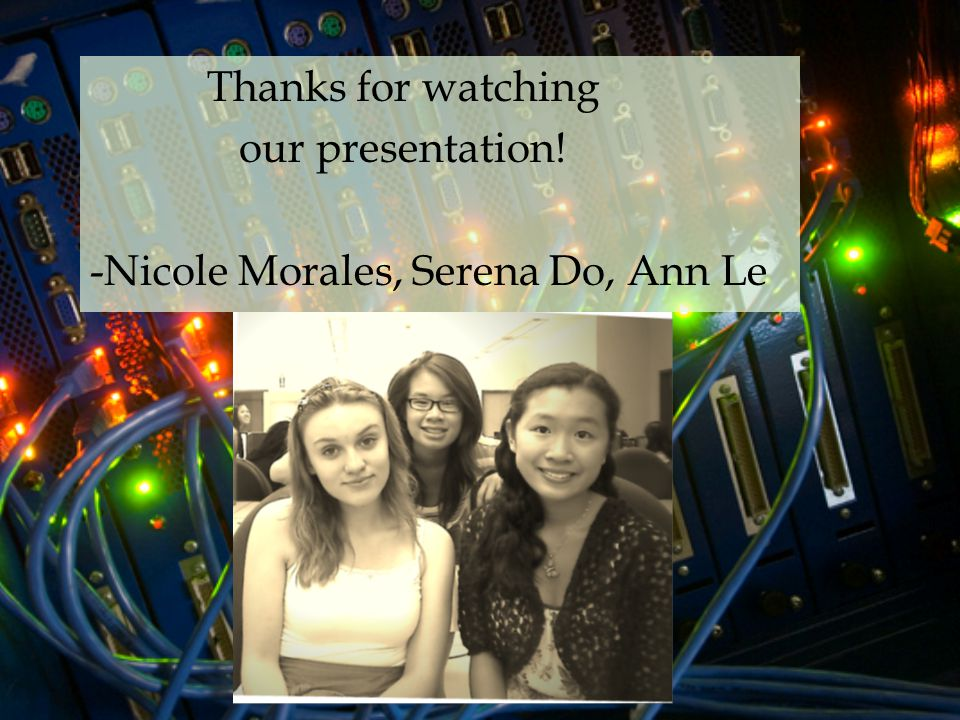 Thanks for watching our presentation