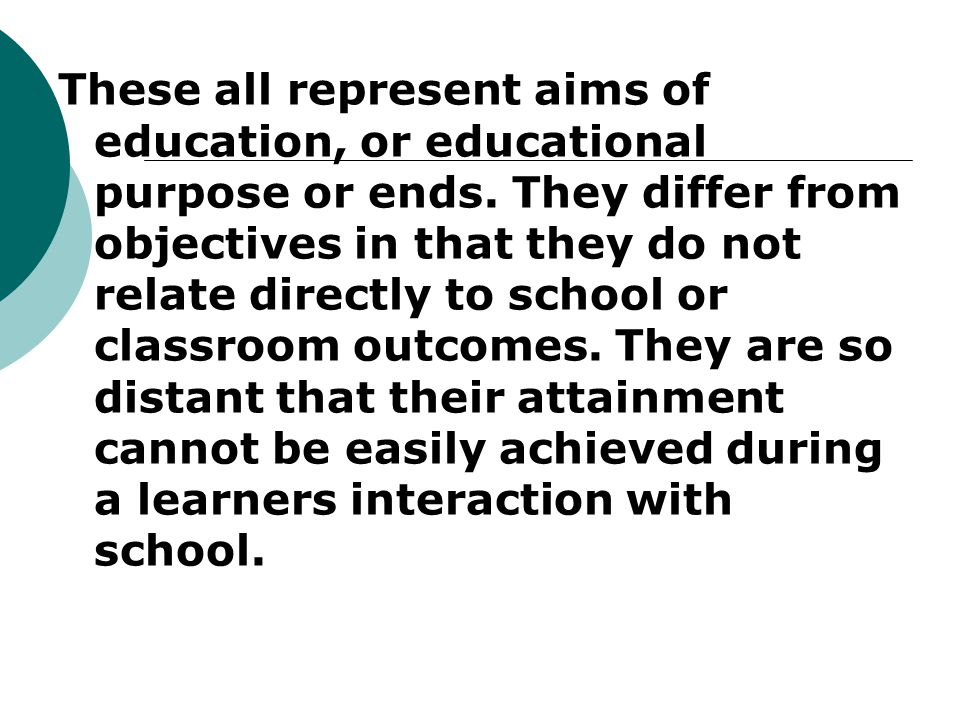 national objectives of education