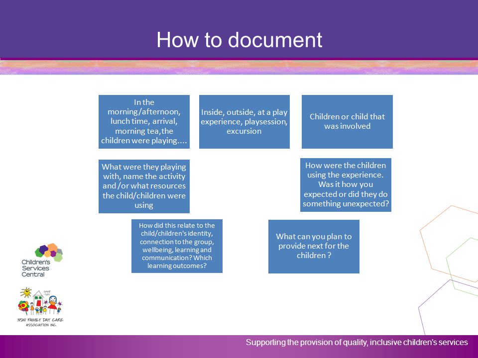 How to document