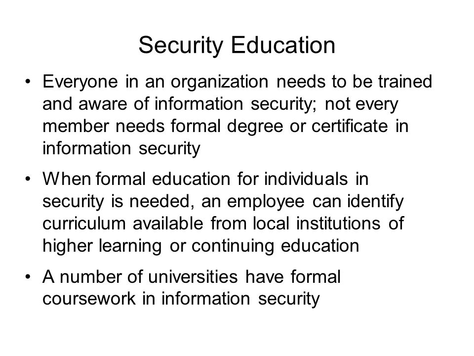 Information security blueprint ppt download security education malvernweather Image collections