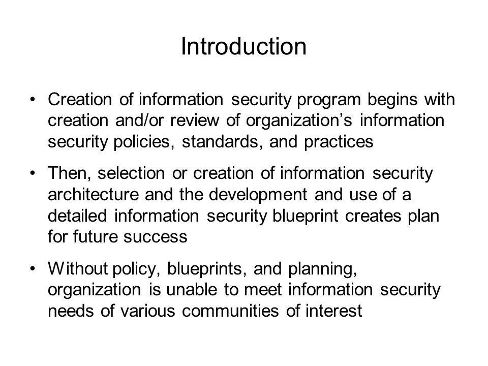 Information security blueprint ppt download 3 introduction malvernweather Image collections