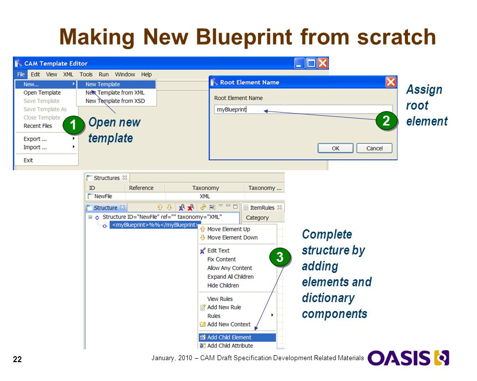 Quick guide to cam blueprints ppt video online download making new blueprint from scratch malvernweather Images