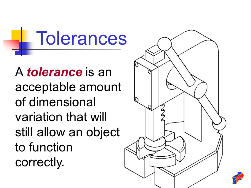 Forging new generations of engineers ppt video online download 5 tolerances a tolerance is an acceptable amount of dimensional variation that will still allow an object to function correctly malvernweather Gallery