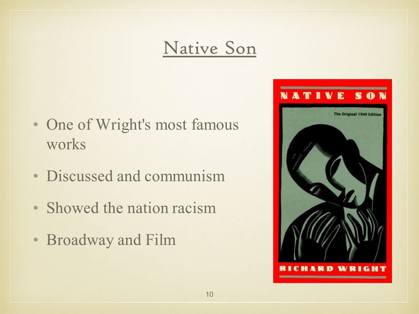 racism in native son