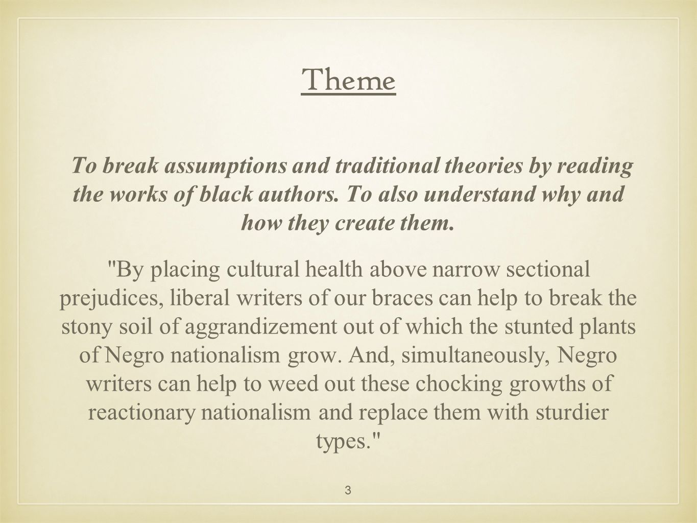 Blueprint for negro writing ppt video online download 3 theme malvernweather Image collections