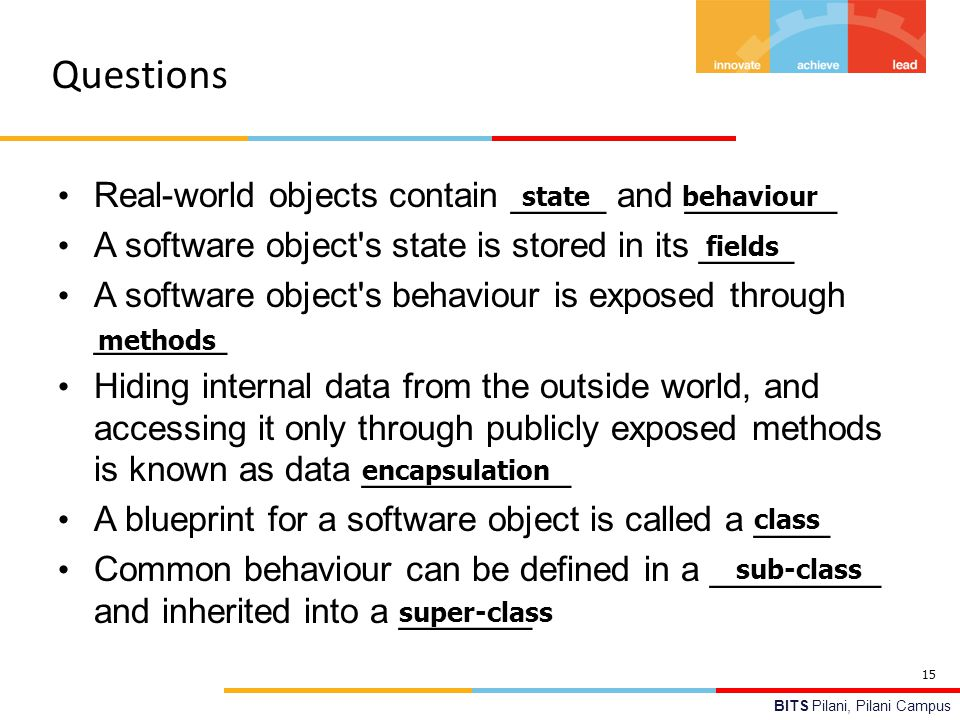 Bits pilani avinash gautam department of computer science and questions real world objects contain and malvernweather Images