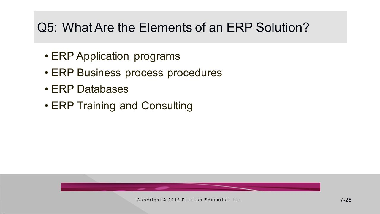 Q5: What Are the Elements of an ERP Solution