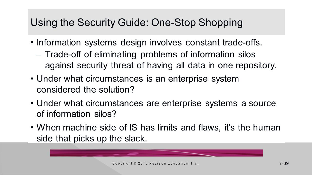 Using the Security Guide: One-Stop Shopping