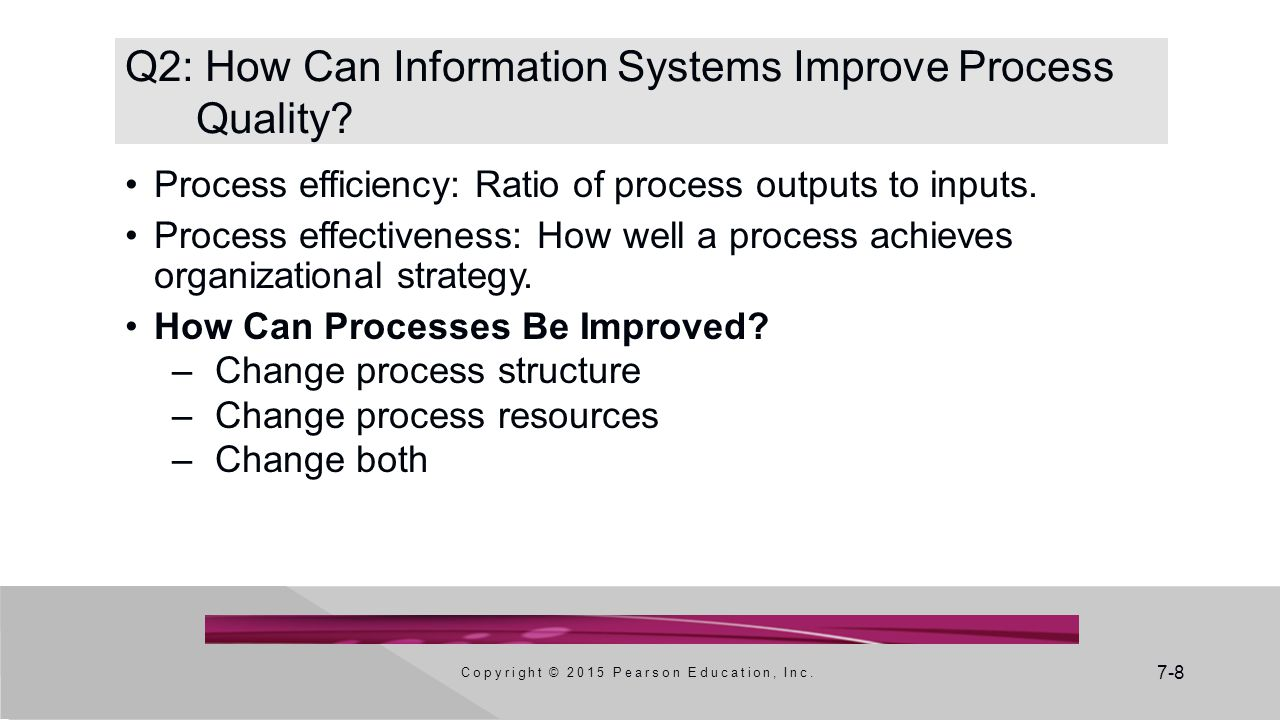 Q2: How Can Information Systems Improve Process Quality