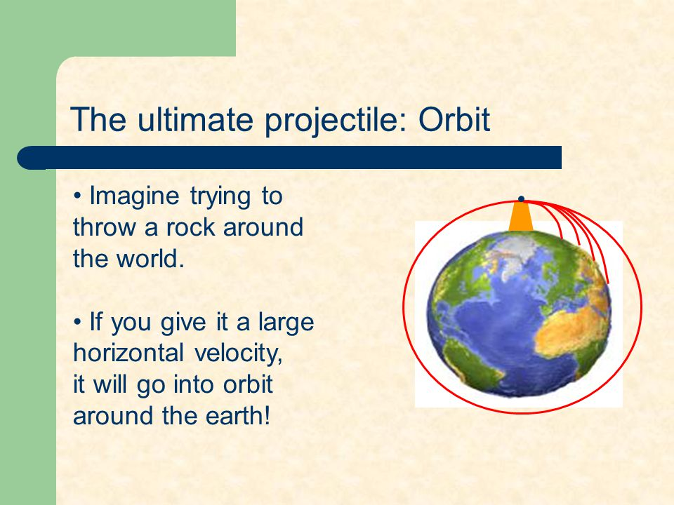 The ultimate projectile: Orbit