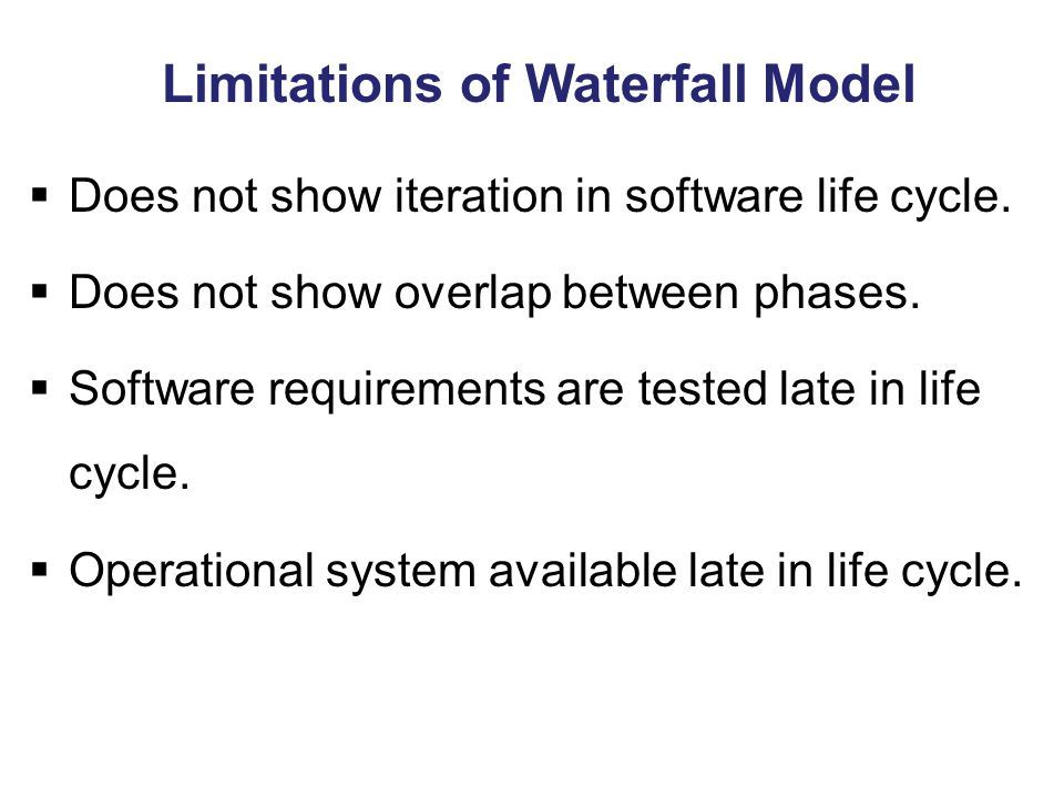 Limitations of Waterfall Model