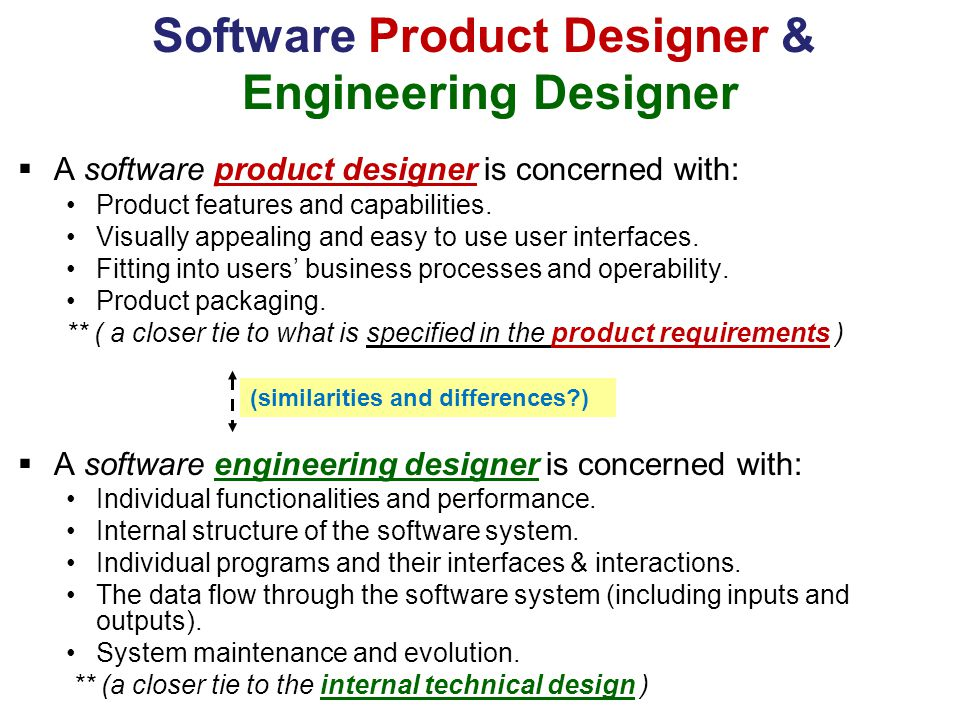 Software Product Designer & Engineering Designer