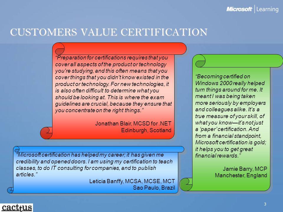 Microsoft Certifications Your Blueprint To Success Visar Ramajli Ms