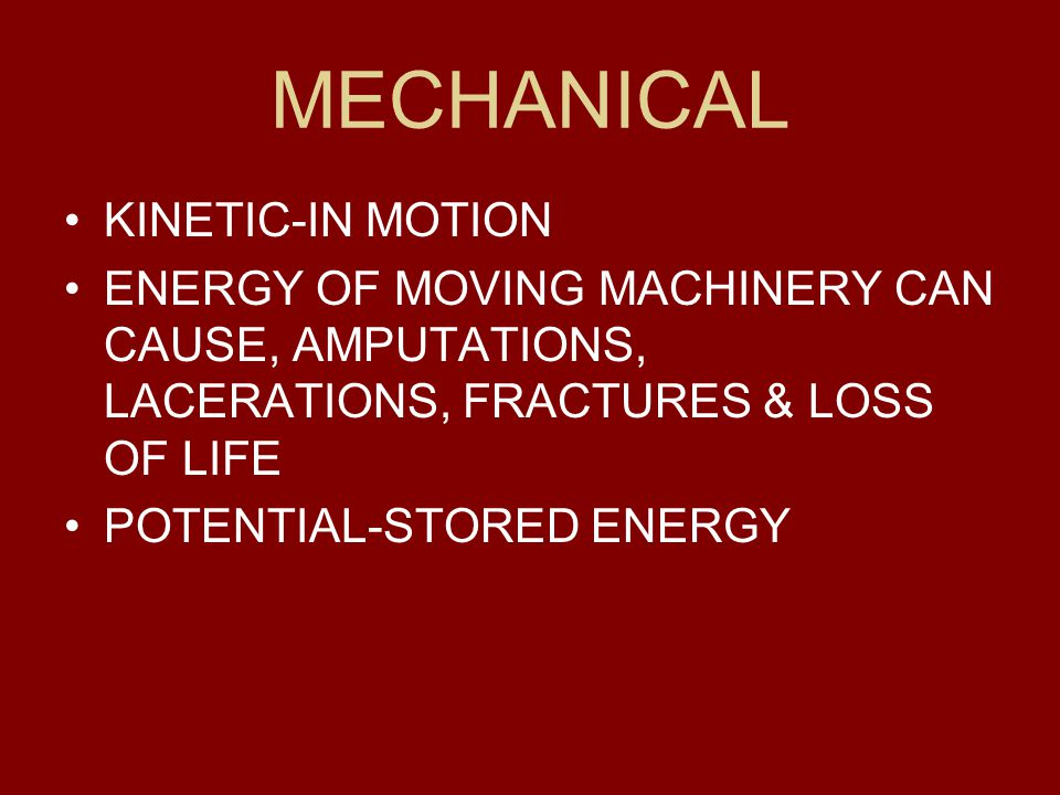 MECHANICAL KINETIC-IN MOTION
