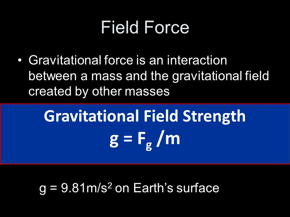 Gravitational Field Strength