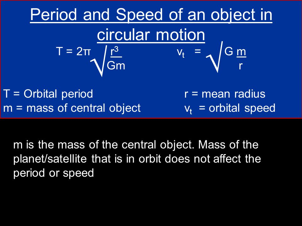 Period and Speed of an object in circular motion