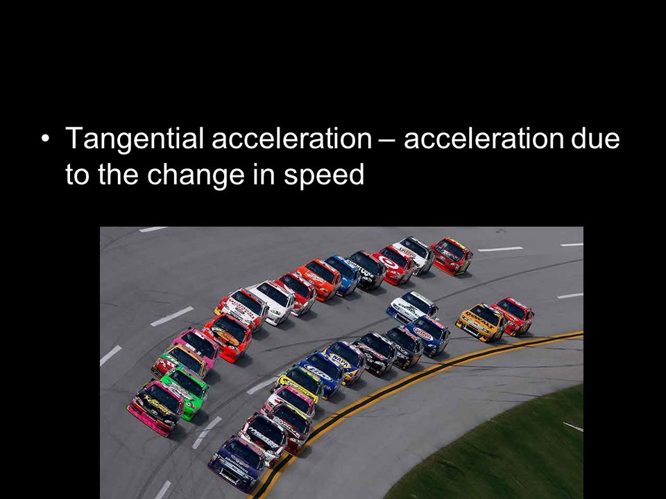 Tangential acceleration – acceleration due to the change in speed