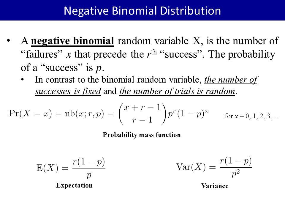 Discrete Random Variables Ppt Video Online Download. Negative Binomial Distribution. Worksheet. Negative Binomial Distribution Worksheet At Clickcart.co