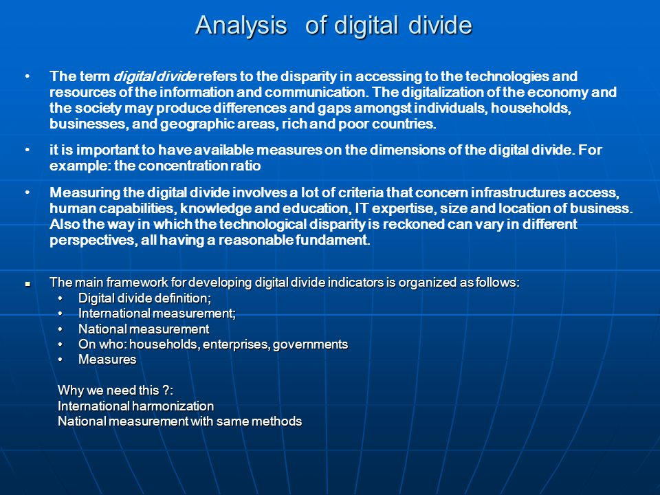 digital divide in education definition