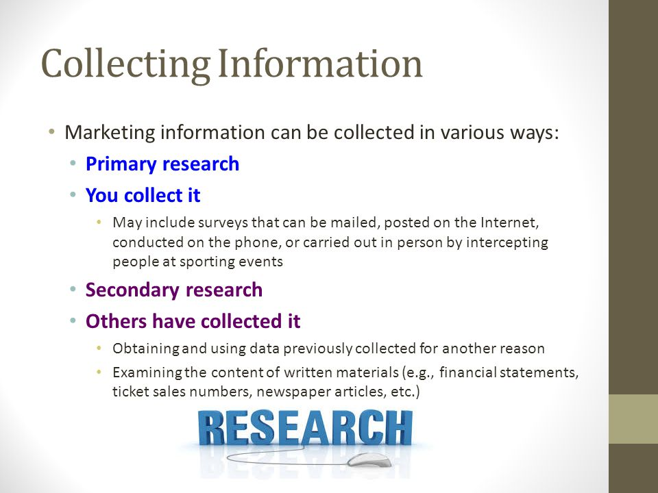 Collecting Information