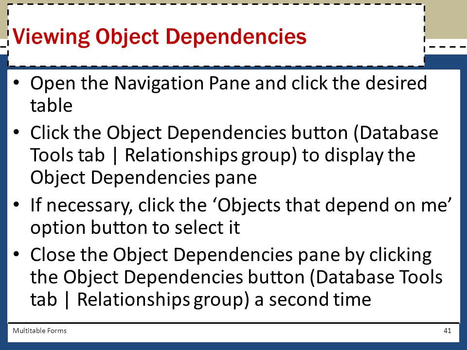 Viewing Object Dependencies