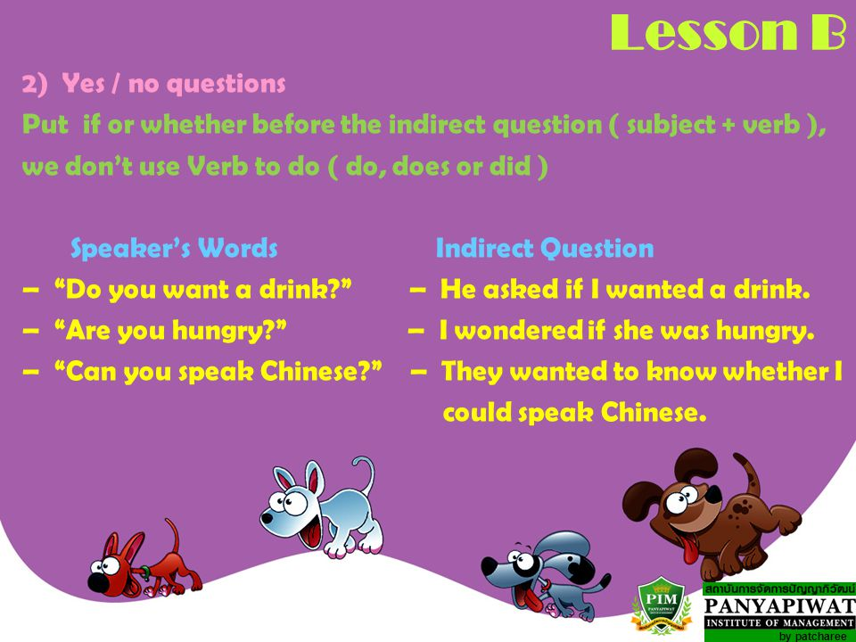 Lesson B 2) Yes / no questions