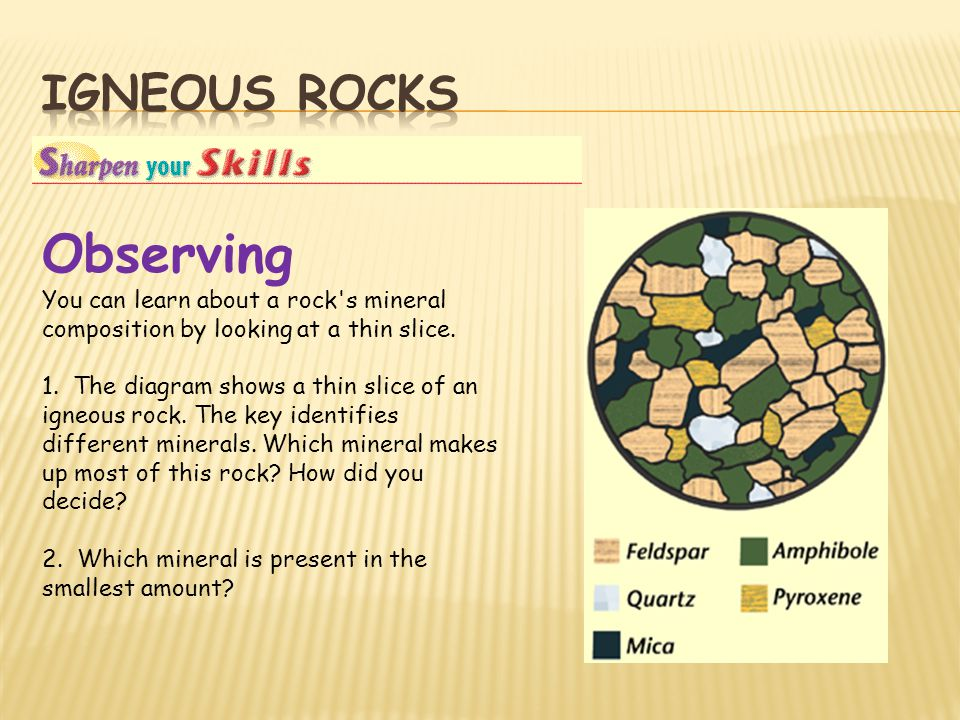 Observing Igneous rocks