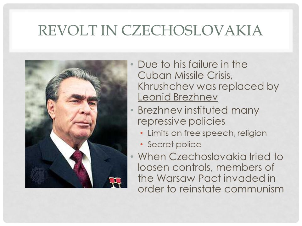 Revolt in Czechoslovakia