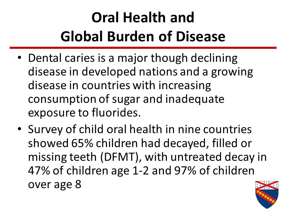 Oral Health and Global Burden of Disease