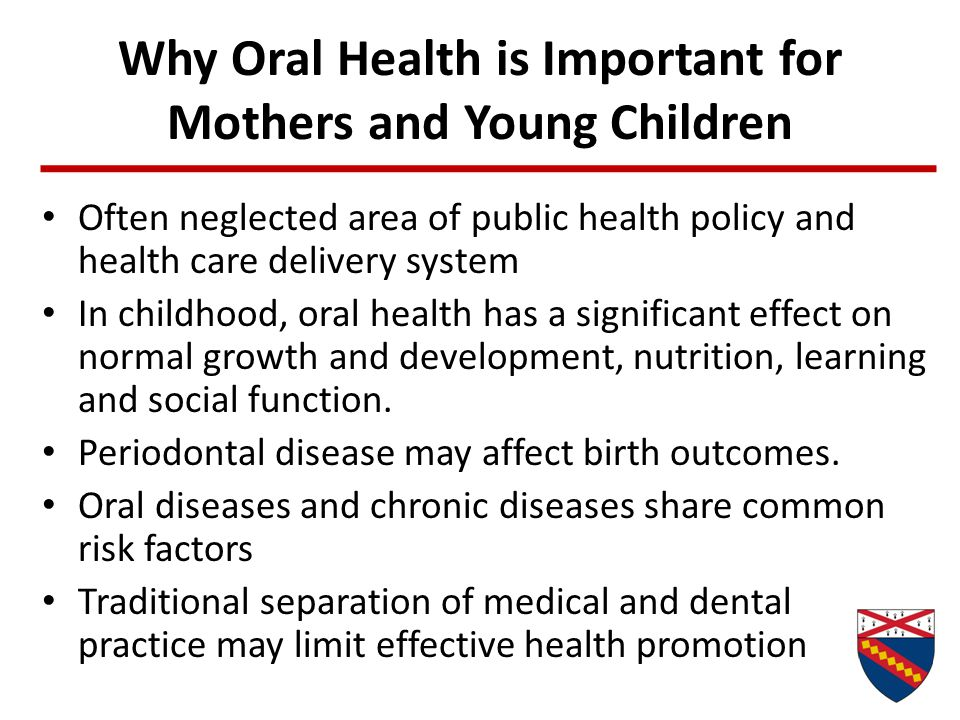 Why Oral Health is Important for Mothers and Young Children