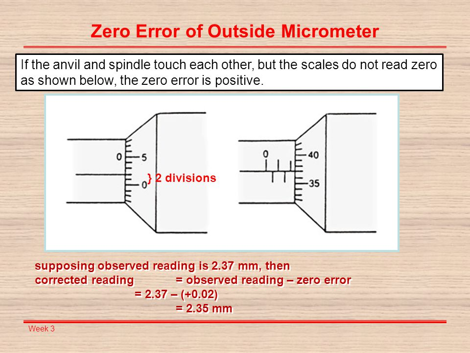 Me 121 engineering practices ppt video online download zero error of outside micrometer ccuart Images