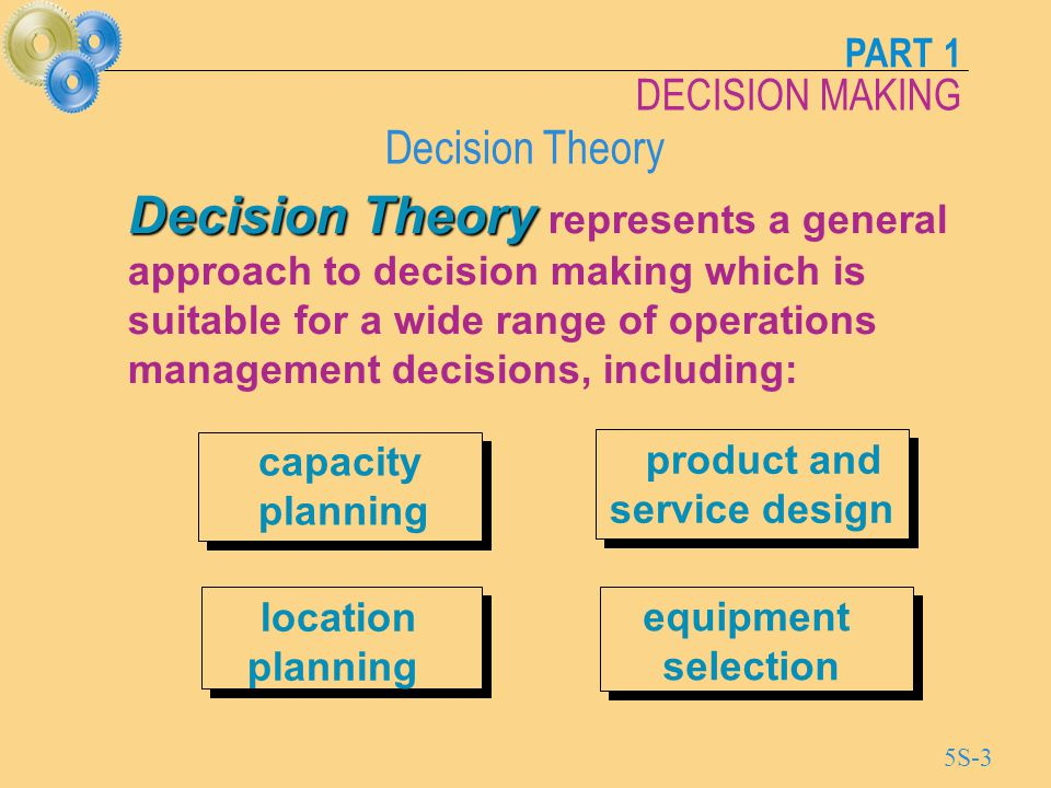 decision theory approach to management