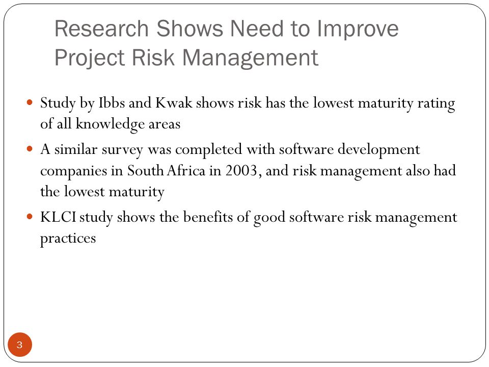 research paper on risk management
