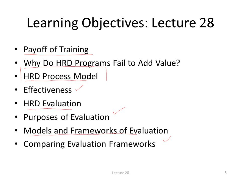 Learning Objectives: Lecture 28