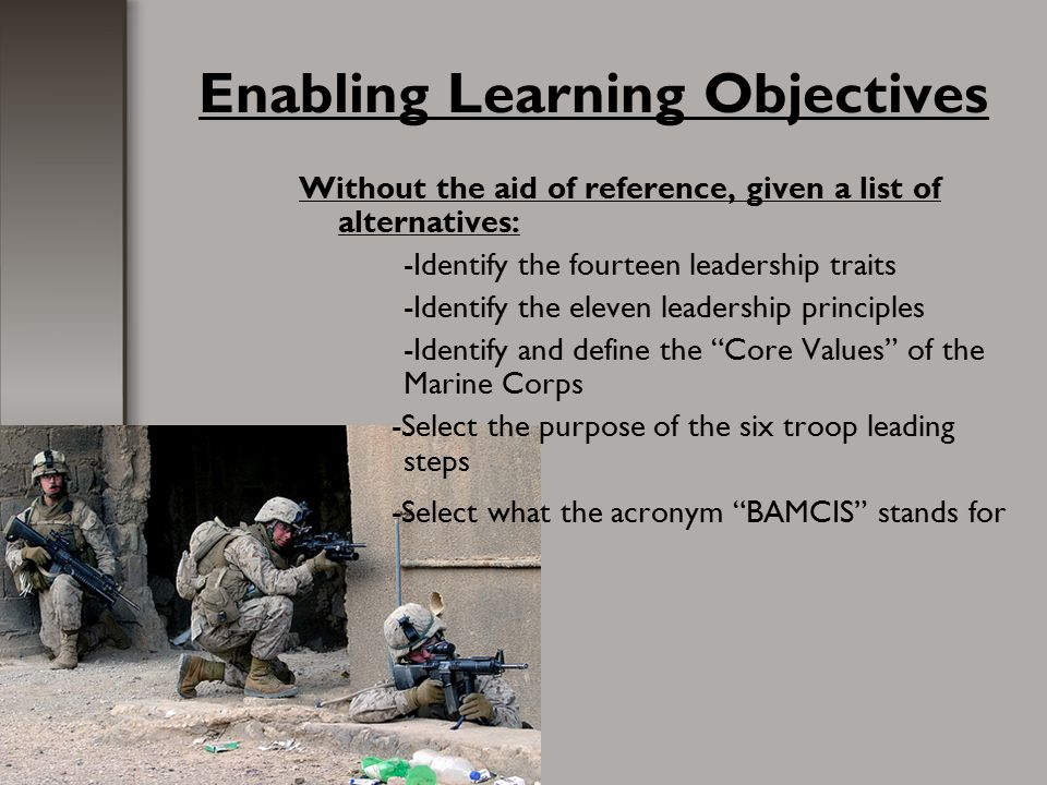 Fundamentals Of Marine Corps Leadership Ppt Download