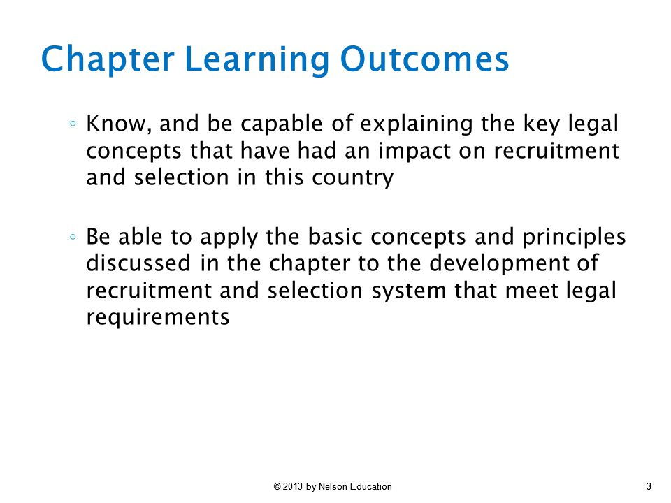 Foundations of Recruitment and Selection II: Legal Issues - ppt