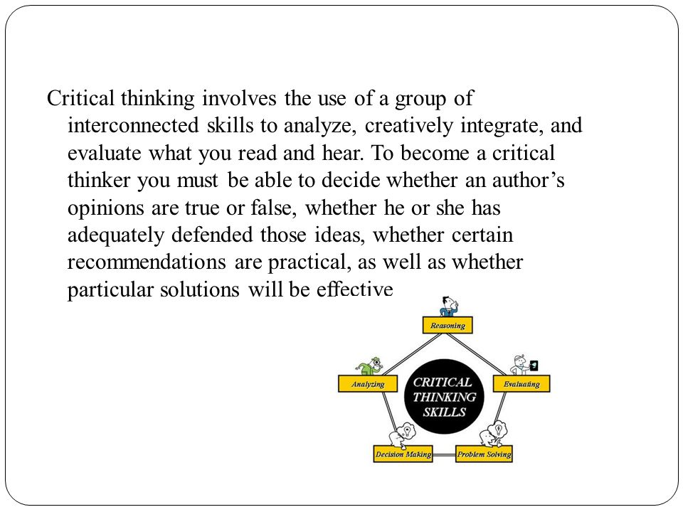 critical thinking skills assessment