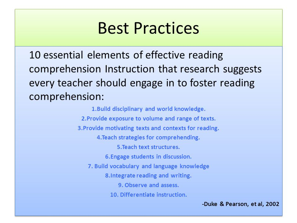 Best practices: increase and decrease.
