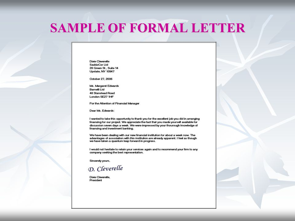 The city school darakhshan campus english language senior ii t 10 sample of formal letter spiritdancerdesigns Gallery