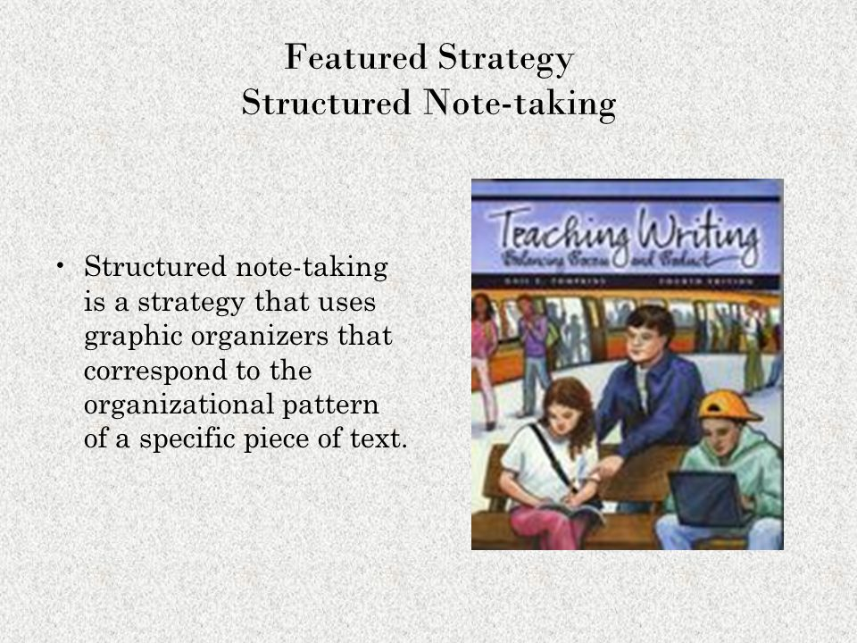 Featured Strategy Structured Note-taking