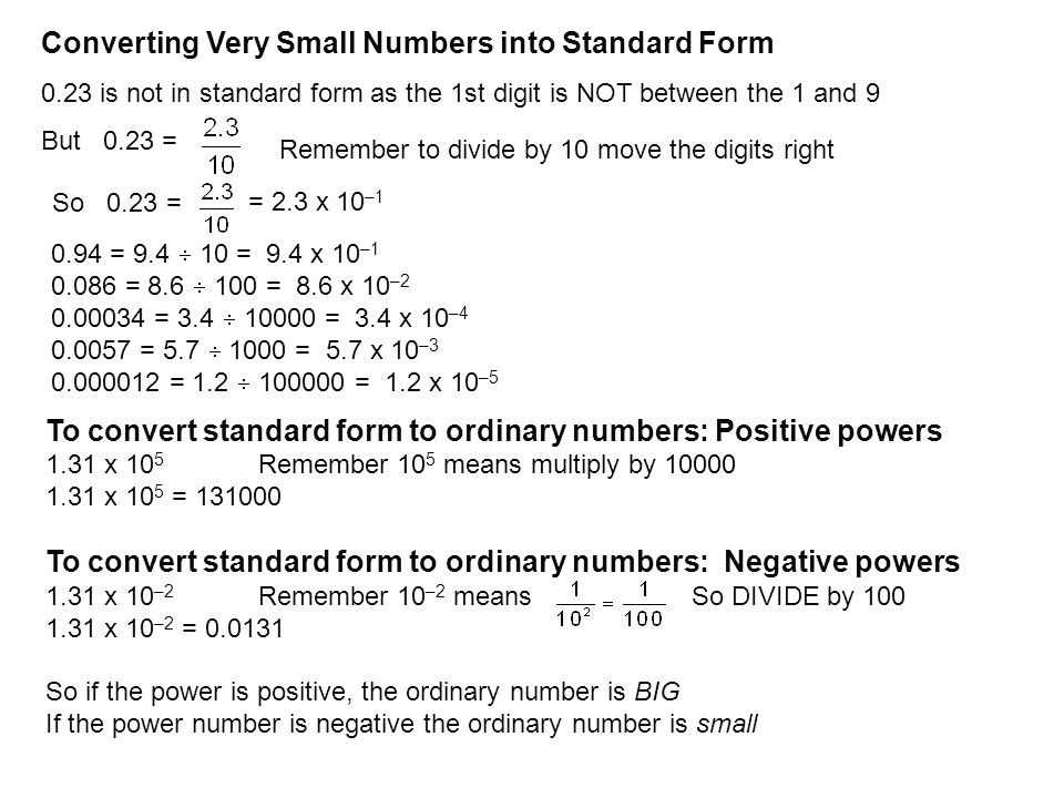 Objective To Convert Numbers Into Standard Index Form Ppt Download