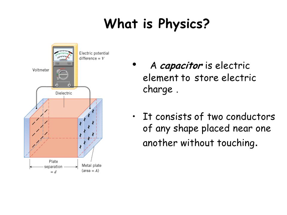 Chapter 25 Capacitance What Is Physics Capacitance Ppt Download
