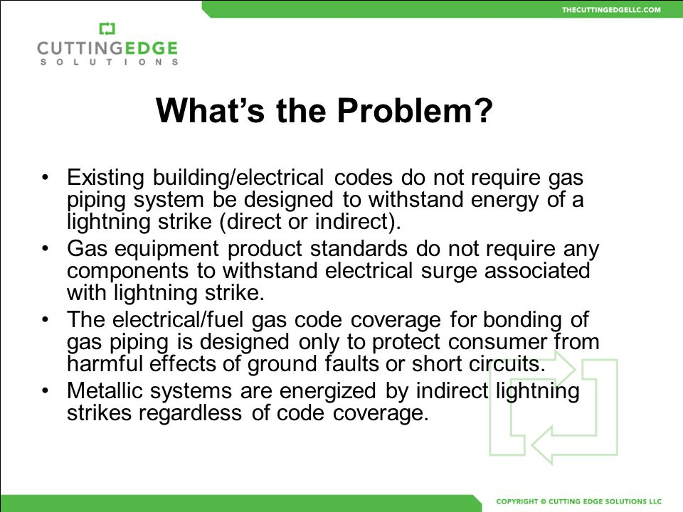 Bonding Requirements For Gas Piping Systems Bob Torbin October ppt ...